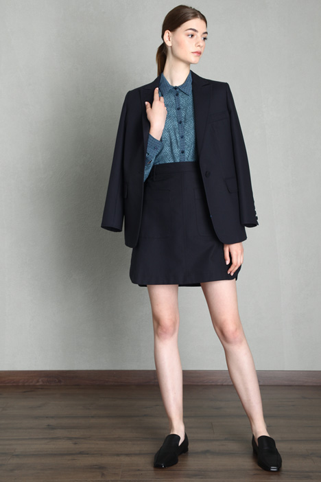 Canvas mini skirt Intrend