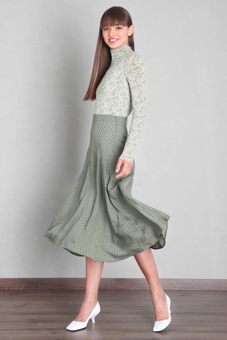 Silk blend jacquard skirt Intrend