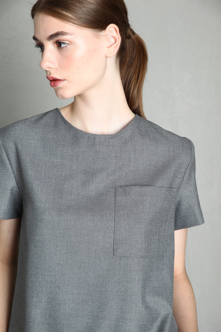 Bow detailed tunic Intrend