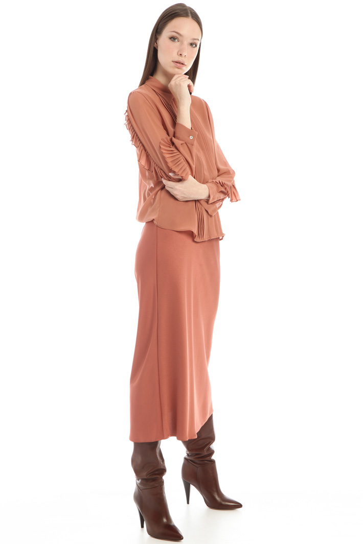 Pleated sleeve blouse Intrend