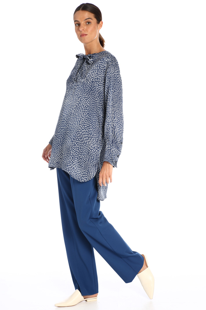 Soft viscose blend trousers Intrend