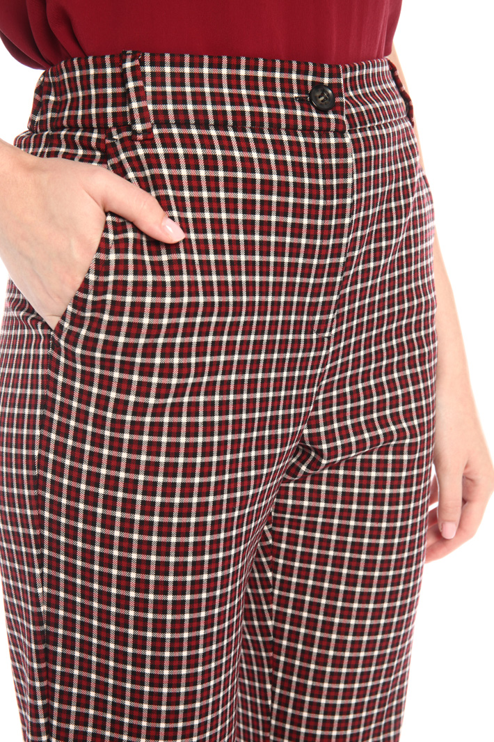 Patterned cigarette trousers Intrend