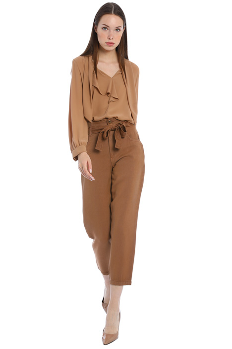 Gabardine baggy trousers Intrend