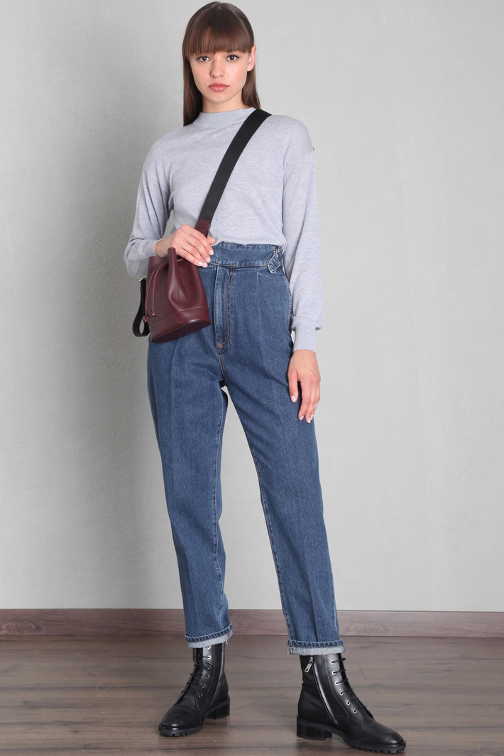 Baggy trousers with straps Intrend