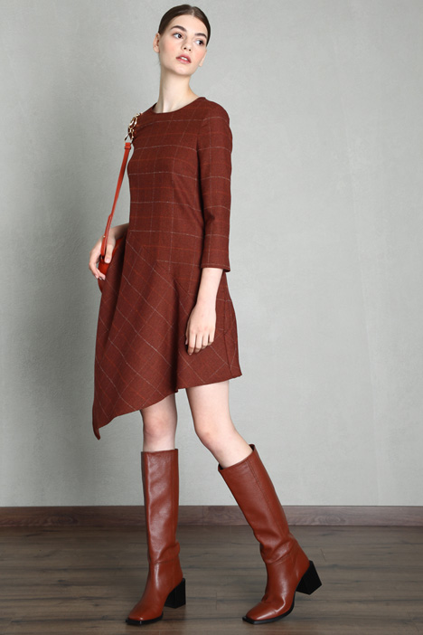 Asymmetrical flannel dress Intrend
