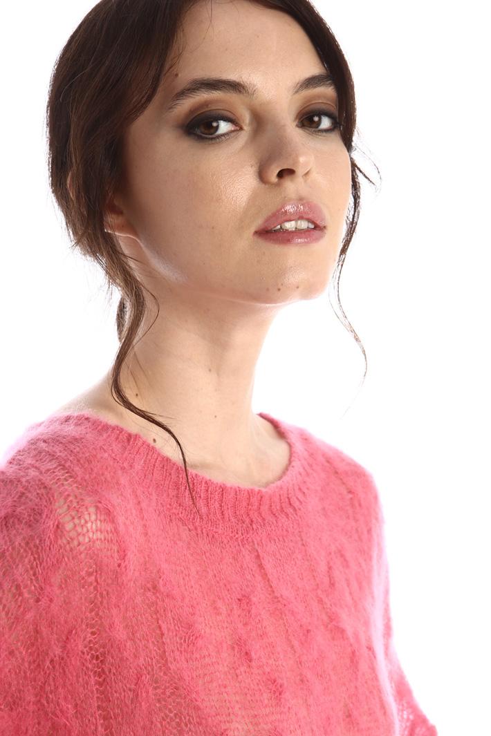 Soft braid knit sweater Intrend