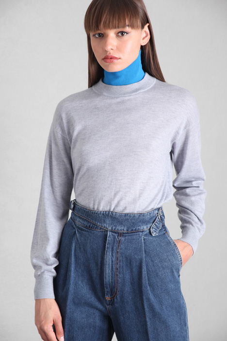 Sweater with removable collar Intrend