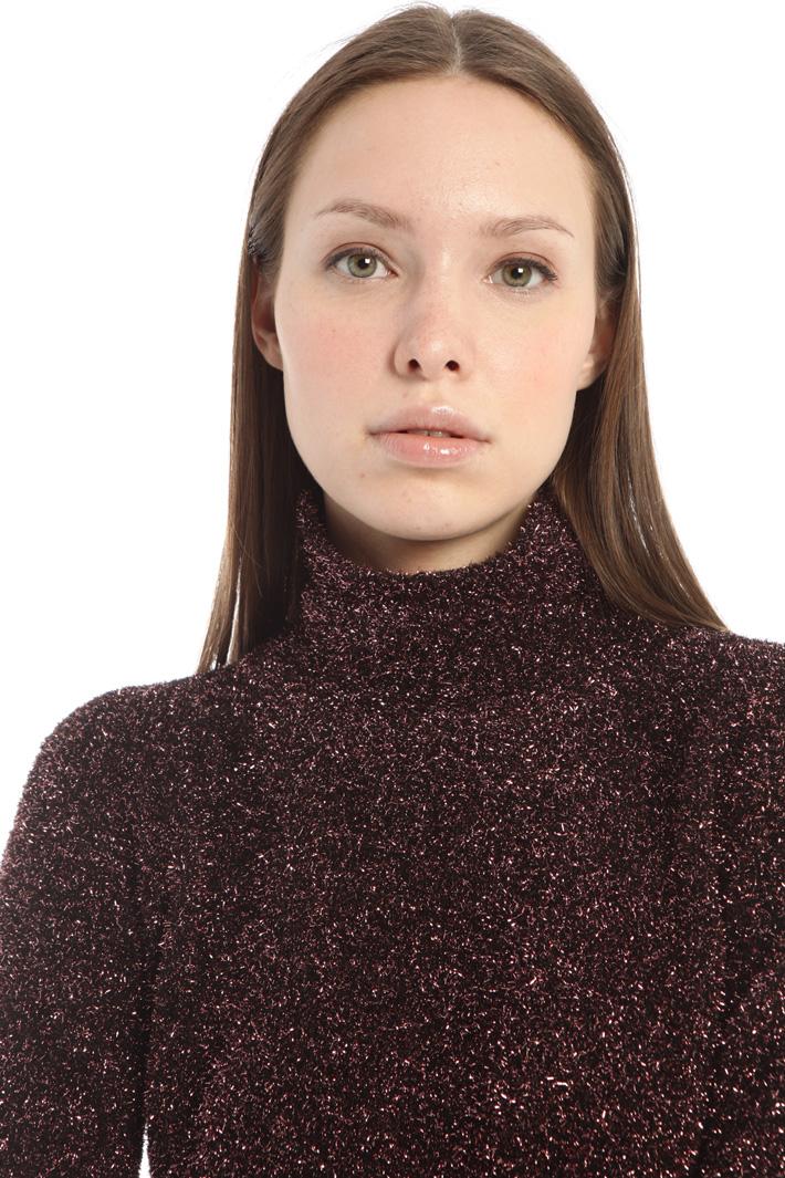 Lurex plush sweater Intrend