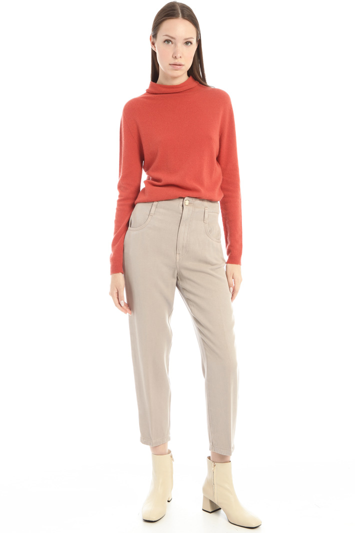 Cashmere-blend polo neck Intrend