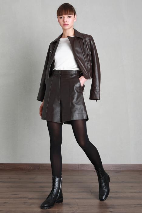 Leather bermuda Intrend