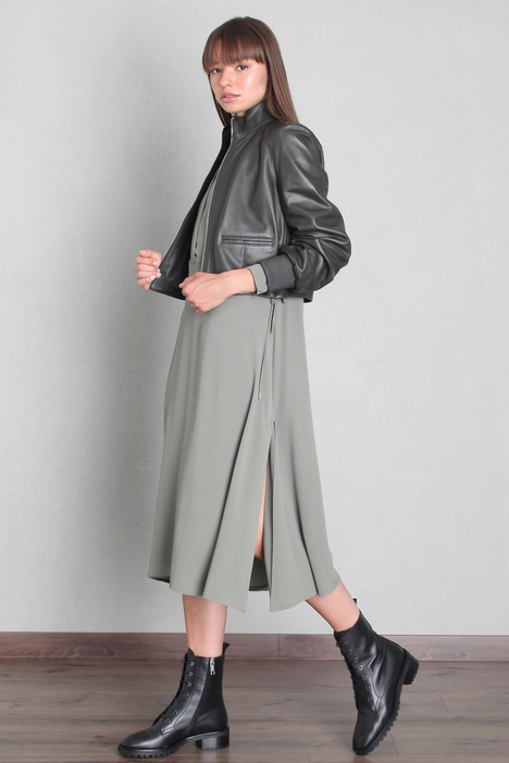 Boxy fit leather jacket Intrend