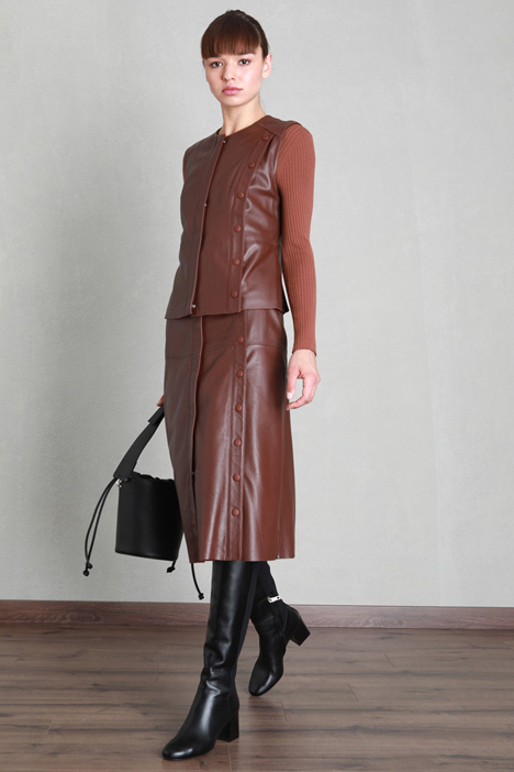Leather vest Intrend