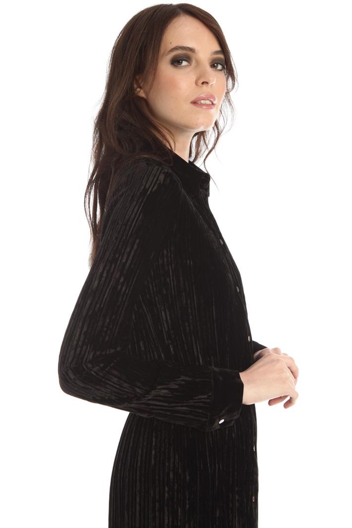Velvet jersey dress Intrend