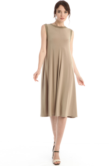Flared jersey crepe dress Intrend