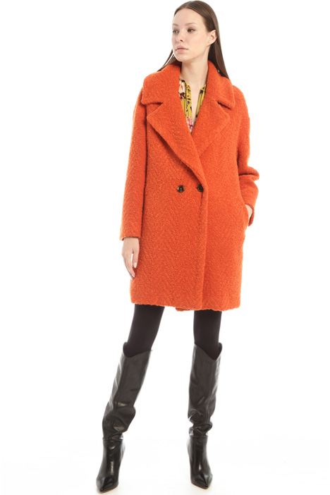 Bouclé jersey coat Intrend