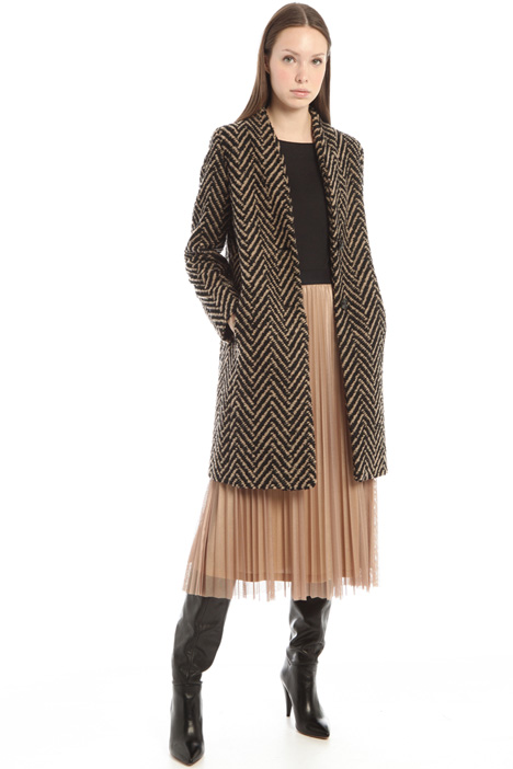 Cappotto in bouclè di lana Intrend