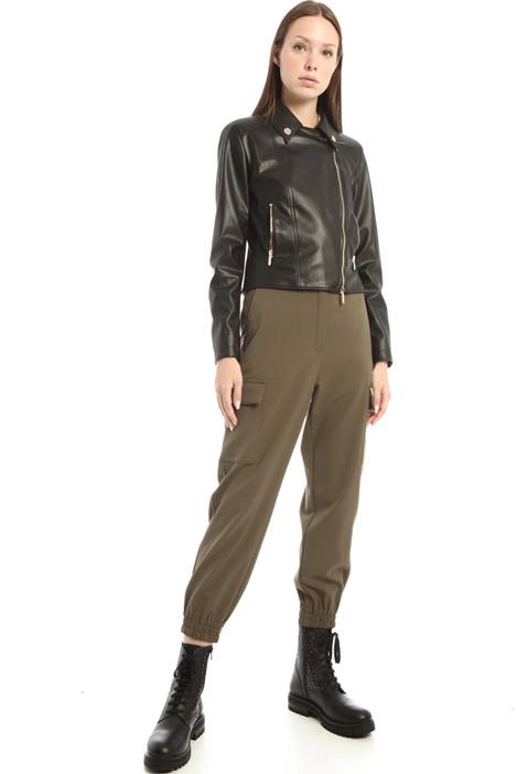 Faux leather biker jacket Intrend