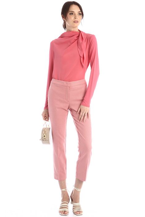 Crepe and jersey blouse Intrend