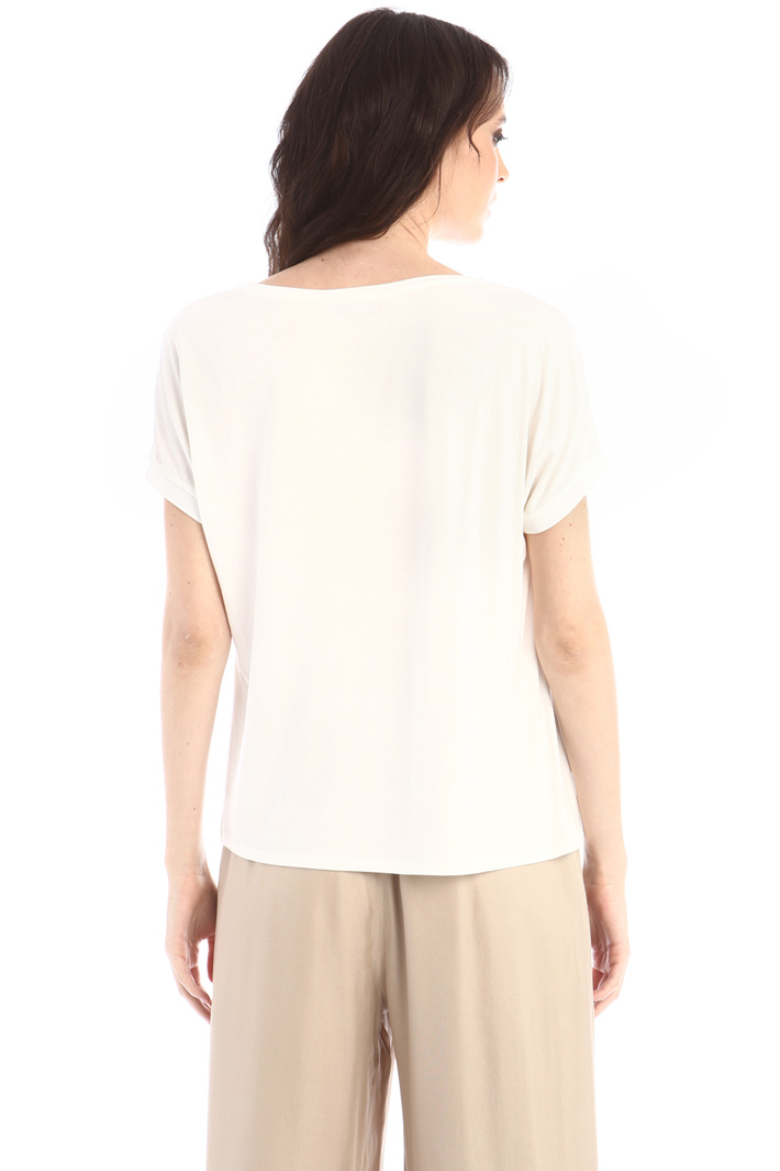 Crepe and jersey T-shirt Intrend