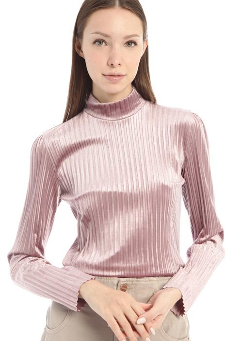 Velvet-effect polo neck Intrend
