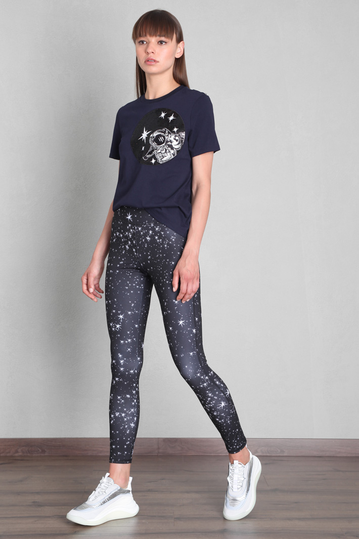 Sequinned jersey T-shirt Intrend
