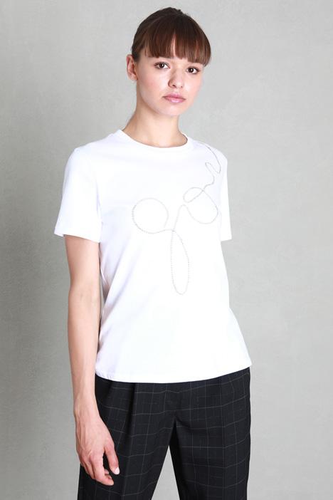 Rhinestone T-shirt Intrend