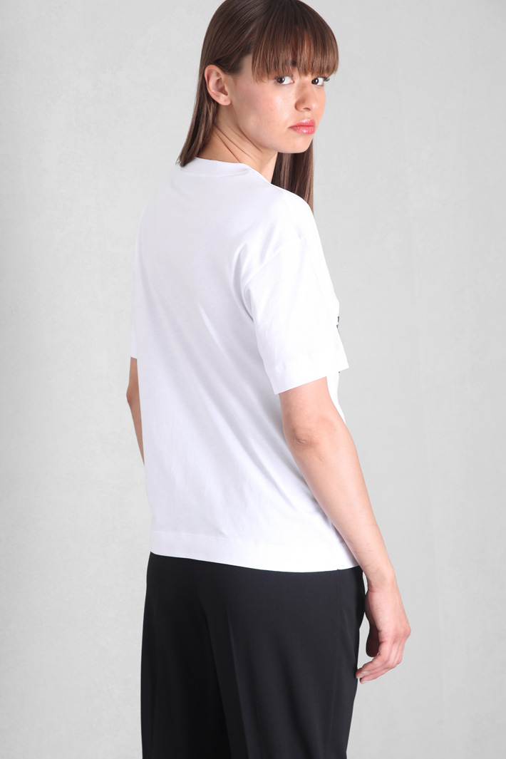 T-shirt with raised motif Intrend