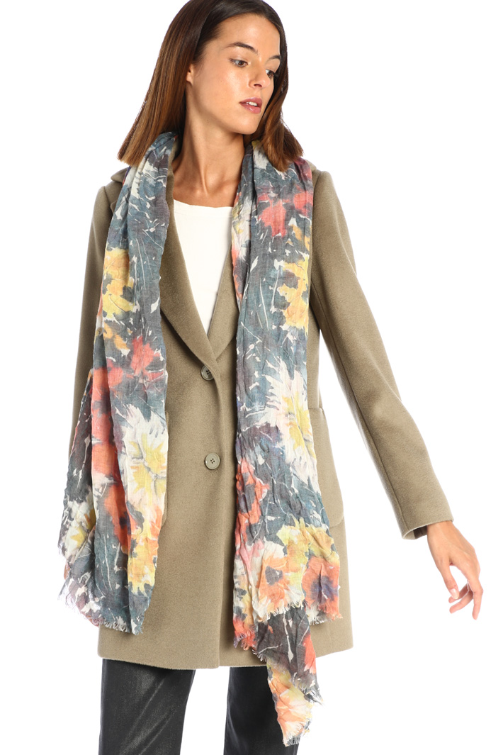 Wool canvas scarf Intrend