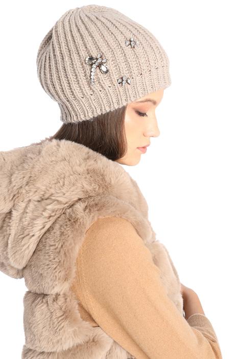 Cuffia misto lana con strass Intrend