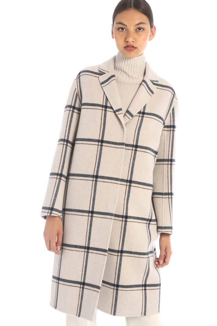 Yarn dyed wool coat Intrend