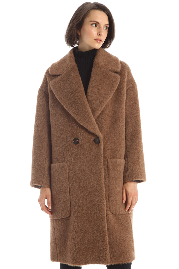 Alpaca, wool and cashmere coat Intrend