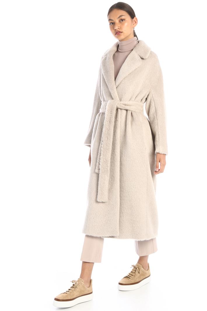 Long alpaca blend coat Intrend