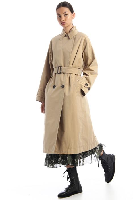 Water-resistant gabardine trench coat Intrend