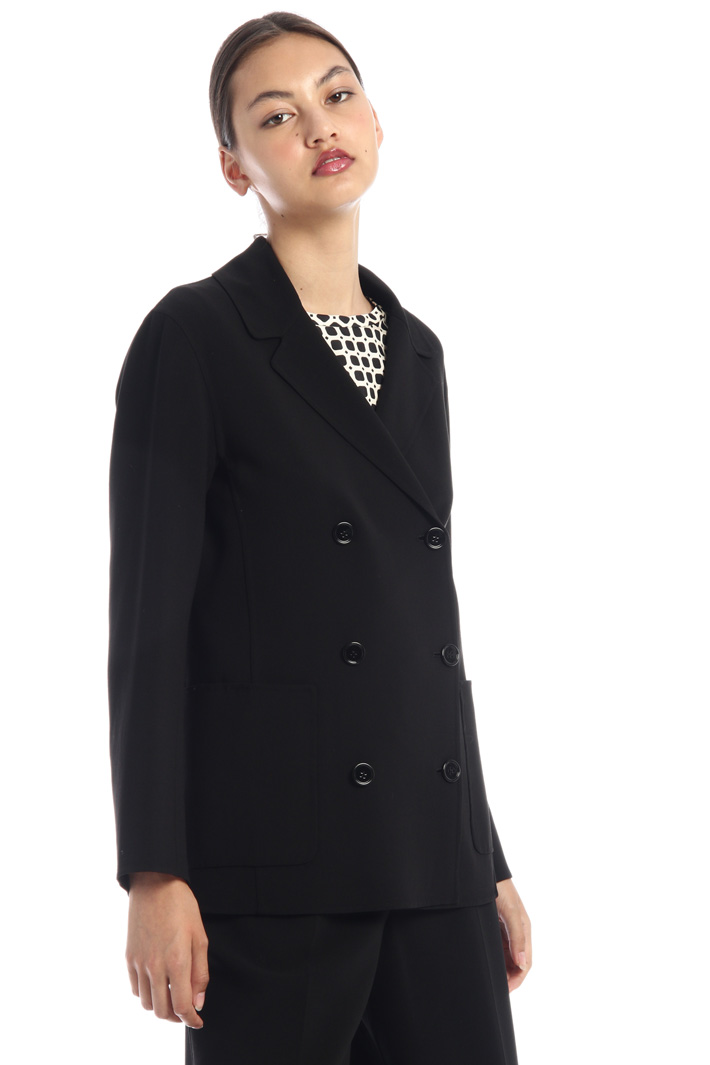 Double-breasted crepe blazer Intrend
