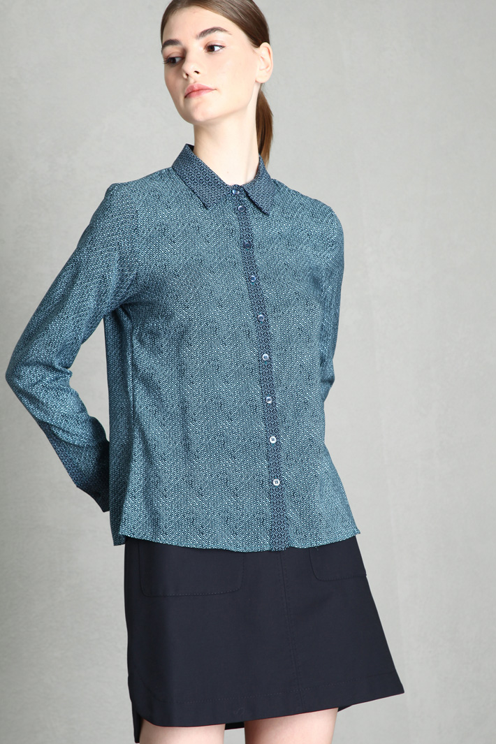 Patterned muslin blouse Intrend