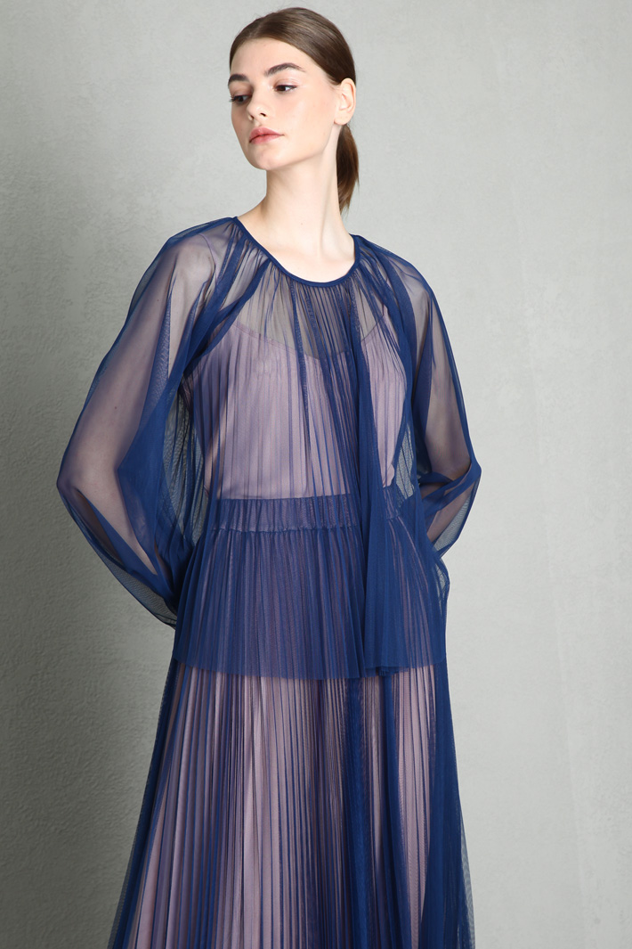 Pleated tulle top Intrend