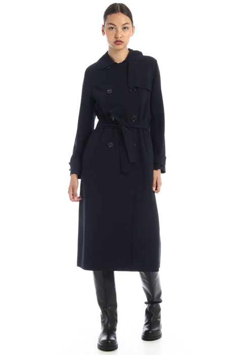 Crepe wool trench coat Intrend