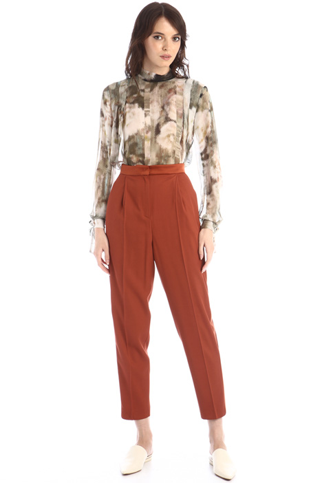 Cady and satin trousers Intrend
