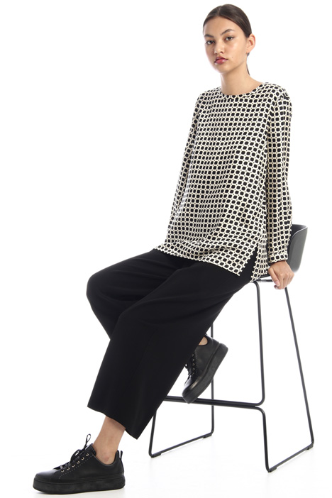 Cropped trousers in crepe fabric Intrend