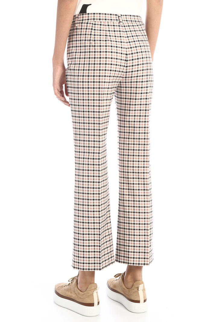 Flared cotton twill trousers Intrend