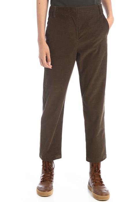 Straight velvet trousers Intrend