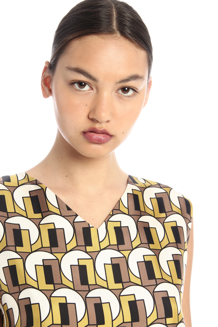 Silk twill reversible top Intrend