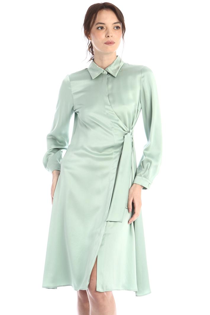 Asymmetrical chemisier dress Intrend
