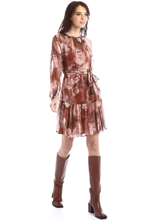 Georgette dress with sash Intrend