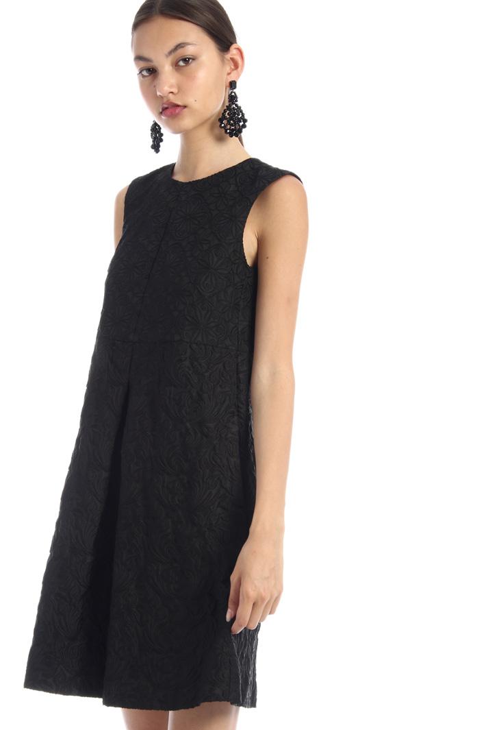 Pleated jacquard dress Intrend