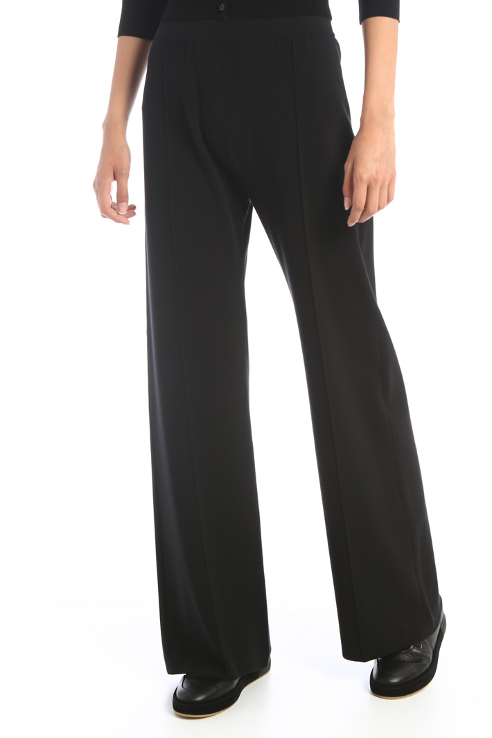 Palazzo trousers in jersey Intrend