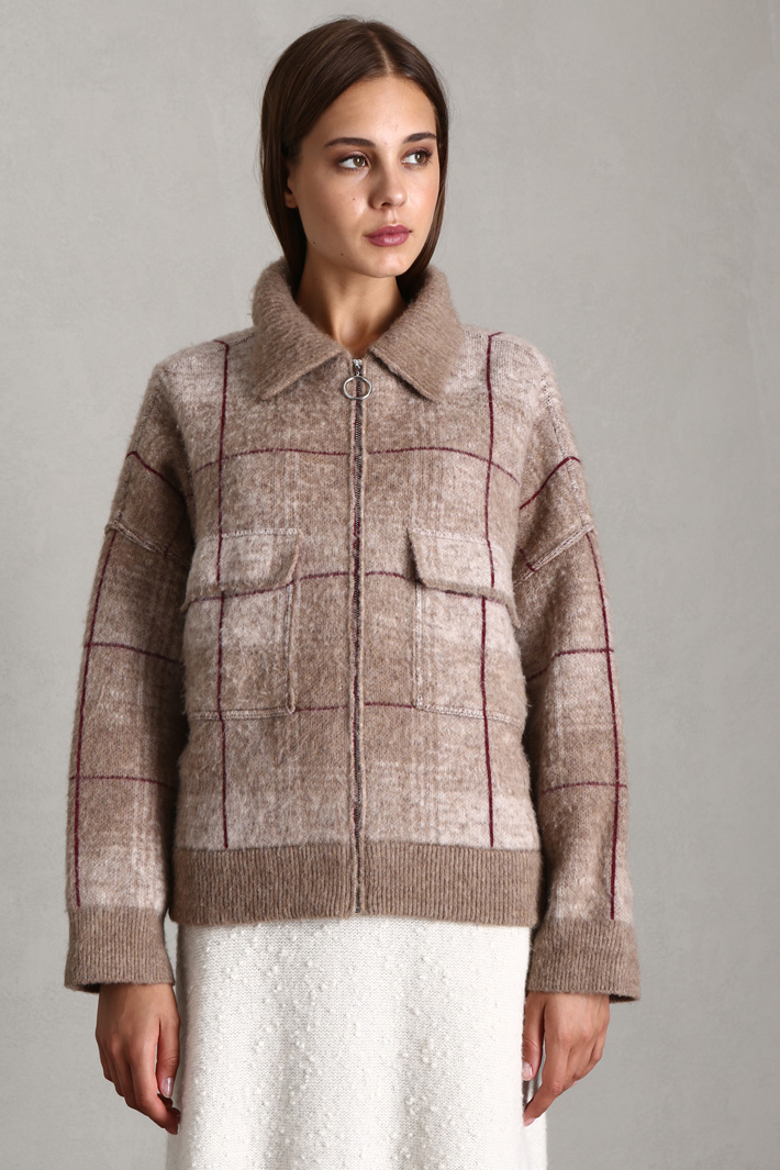 Bomber-style cardigan Intrend