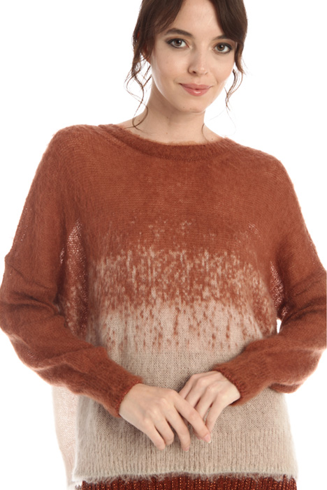 Jacquard mohair sweater Intrend