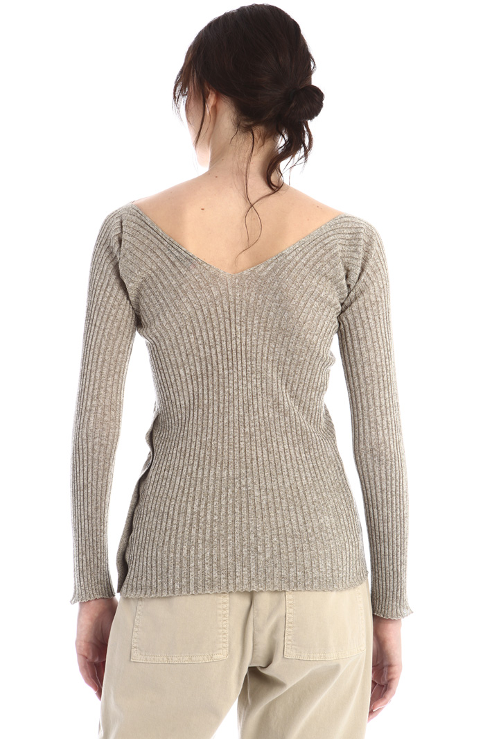 Fitted lurex sweater Intrend
