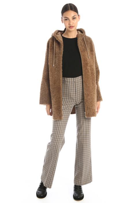 Loose fit sheepskin coat Intrend
